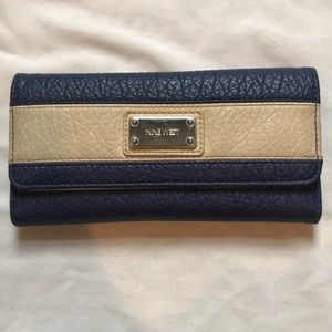 Nine West blue and cream wallet.